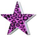Antenna Ball (Leopard Purple Print Star)