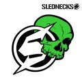 SLEDNECKS  12inch Arrow Sticker (Neon Green)