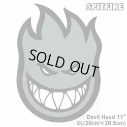"画像1: Spitfire Wheels  Devil Head 11"" Sticker Grey"
