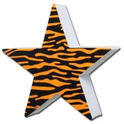 画像1: Antenna Ball (Tiger Print Star)