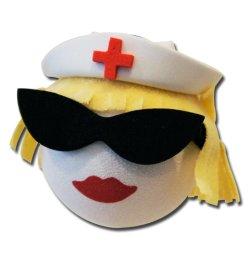 画像1: Blonde Nurse Antenna Ball