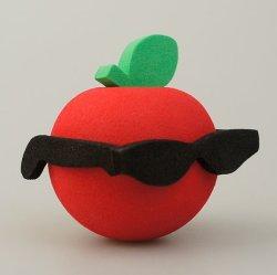 画像2: Big Apple with Sunglasses Antenna Ball