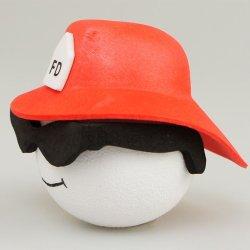画像2: Fireman with Glasses Red Helmet Antenna Ball
