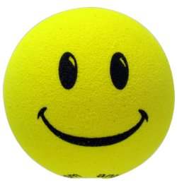 画像1: Happy Face Big Hole Antenna Ball (Yellow)