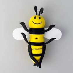 画像2: Happy Bee Antenna Ball