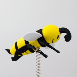 画像1: Happy Bee Antenna Ball