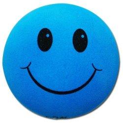 画像1: Happy Face Big Hole Antenna Ball (Blue)