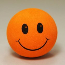 画像1: Happy Face Big Hole Antenna Ball (Orange)