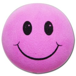 画像1: Happy Face Antenna Ball (Pink)