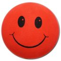 Happy Face Antenna Ball (Red)