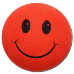 画像1: Happy Face Big Hole Antenna Ball (Red)