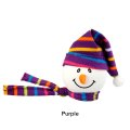 Snowman with Winter hat Antenna Ball (Purple)