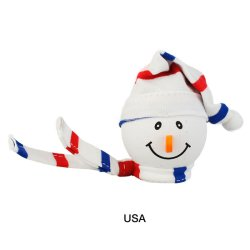 画像1: Snowman with Winter hat Antenna Ball (USA)