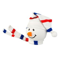 画像2: Snowman with Winter hat Antenna Ball (USA)
