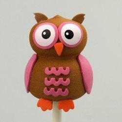 画像1: Antenna Ball (Pink Owl)