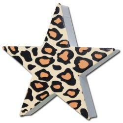 画像1: Antenna Ball (Leopard Brown Print Star)