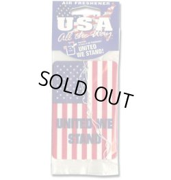 "画像1: USA Flag ""UNITED WE STAND"" Air Freshener 【メール便OK】"