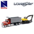 NewRay 1:43 International Lonestar Dump Truck w/Excavator