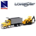 NewRay 1:43 International Lonestar Dump Truck w/Wheel Loader