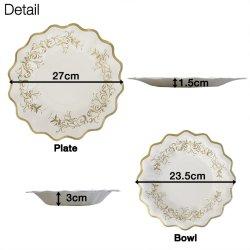 画像2: Classic Paper Plate & Bowl【8枚入り】【全4種】