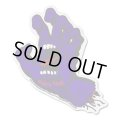 SANTA CRUZ Skateboards Screming Hand sticker (Purple)L 【メール便OK】