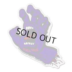 画像1: SANTA CRUZ Skateboards Screming Hand sticker (Purple)L 【メール便OK】