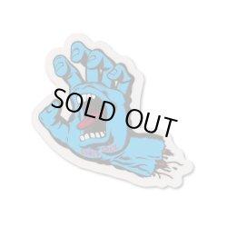 画像1: SANTA CRUZ Skateboards Screming Hand sticker (Blue)S 【メール便OK】