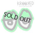 Krooked  Eyes Sticker Neon Green 【メール便OK】