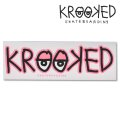 Krooked  Logo Sticker Neon Pink 【メール便OK】