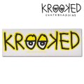 Krooked  Logo Sticker Yellow 【メール便OK】