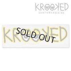 画像1: Krooked  Logo Sticker Yellow 【メール便OK】