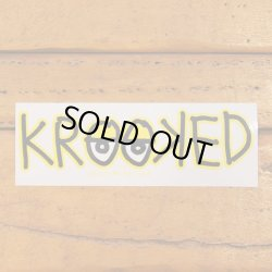 画像2: Krooked  Logo Sticker Yellow 【メール便OK】