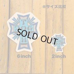 画像2: Dogtown Skateboards Cross Logo Die Cut sticker 4inch (Blue) 【メール便OK】