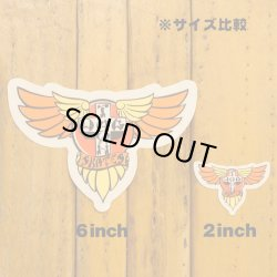 画像2: Dogtown Skateboards Wing Logo Die Cut sticker 6inch (Orange/yellow) 【メール便OK】