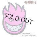 "Spitfire Wheels  Devil Head 11"" Sticker Neon Pink"
