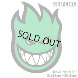 "画像1: Spitfire Wheels  Devil Head 11"" Sticker Green"
