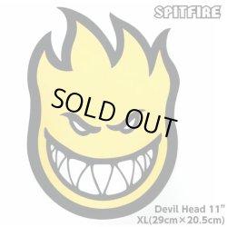 """画像1: Spitfire Wheels  Devil Head 11"""" Sticker Yellow"""