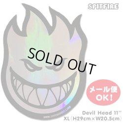 "画像1: Spitfire Wheels  Devil Head 11"" Sticker Prism"