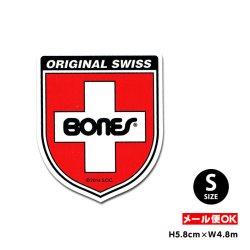 画像1: BONES SWISS BEARING LOGO Shield Sticker Sサイズ