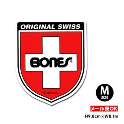 画像1: BONES SWISS BEARING LOGO Shield Sticker Mサイズ