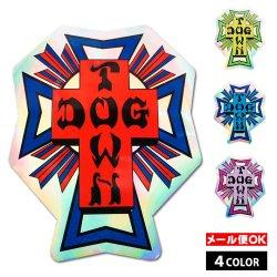 画像1: Dogtown Skateboards Foil Cross Logo Sticker 4inch【全4種】