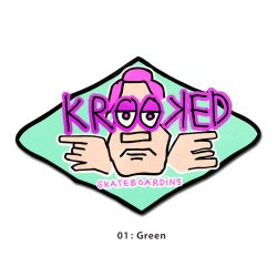 画像2: Krooked Arketype Sticker 【メール便OK】