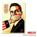 OBEY Sticker <All The FREE SPEECH MONEY CAN BUY!> 【メール便OK】