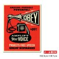 OBEY Sticker <AMPLIFY Your VOICE> 【メール便OK】