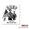 OBEY Sticker <OBEY RESIST THE New World Order> 【メール便OK】