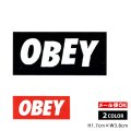 OBEY Sticker <OBEY MINI LOGO 2色>【メール便OK】