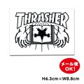 Thrasher book and hands sticker  【メール便OK】