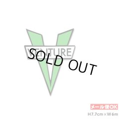 画像1: Venture Trucks V DieCut Sticker Small Size (Green)