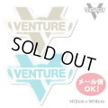 Venture truck Cross Bar Diecut sticker M 【メール便OK】