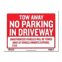 画像1: Sign Plate [NO PARKING IN DRIVEWAY]